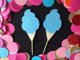 $enCountryForm.capitalKeyWord Australia - Cotton Candy Glitter Cupcake Toppers birthday Wedding Bridal baby Shower Engage wedding birthday toothpicks decorations Party Supplies Event