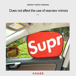 $enCountryForm.capitalKeyWord Australia - 44.5*36.5CM Car Static Sun Visor Window Sun Shade Car Windshield Visor Cover Block Front Window Sunshade UV Protect Car Window Film Black