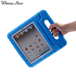 China Kids Children Handle Stand EVA Foam Soft Shockproof Tablet Case For new iPad 2017 air air2 2 3 4 pro 9.7 mini cheap kids ipad tablet suppliers