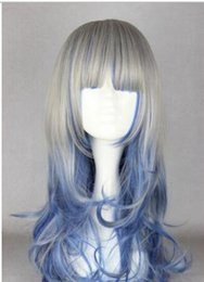 $enCountryForm.capitalKeyWord NZ - FREE SHIPPING+ ++ Top Sell Long Wave Silver Blue Mixed Color Girl Lolita Fashion Cosplay Party Wig