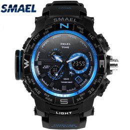 $enCountryForm.capitalKeyWord Australia - SMAEL Fantastic Outdoor Dual Display 50m Waterproof Teenage Watch Tide Male Fashion LED Electronic Multi-function Watches