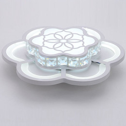China Modern Crystal LED Bedroom Corridor Ceiling Light White Acrylic Flower Balcony Ceiling Lamp Porch Hallway Ceiling Lamp suppliers