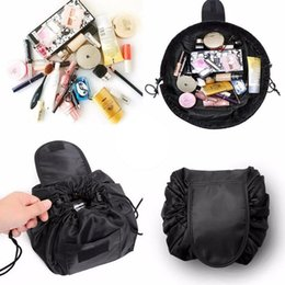 $enCountryForm.capitalKeyWord Australia - 2018 barrel shaped magic drawstring cosmetic travel pouch cosmetic bag women bag travel storage lady's string makeup support #171549