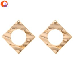 $enCountryForm.capitalKeyWord UK - wholesale 30Pcs 48*49MM Jewelry Accessories Earring Connectors Square Shape DIY Hand Made Jewelry Making Earring Findings