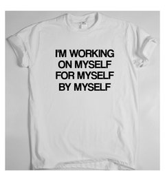 $enCountryForm.capitalKeyWord Australia - I'M Working On Myself Motivational T Shirt Inspiring Work Train Sport Success Tee Shirt Men Best Design Short Sleeve Fashion Custom 3XL Grou