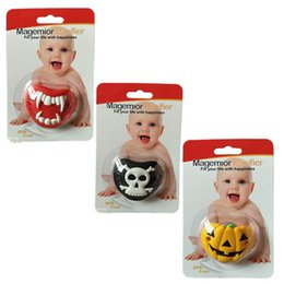 Discount cute pacifiers for babies Halloween Grade Silicone Funny Baby Safe Nipple Pacifier Kids Feeding Nipple Cute Soothers For Newborn Baby Girl Boy