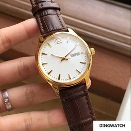 Browning Gold Australia - 2019 MAN CHINA BROWN BELT DAY DATE GOLD 41MM CASE automatic men watch sport wholesale fashion band new Stainless steel mens watches