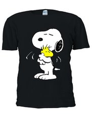 15afdd23e Snoopy T Shirts UK - Men Short Sleeves T Shirt Snoopy PEANUTS Cartoon Happy  Cute Men