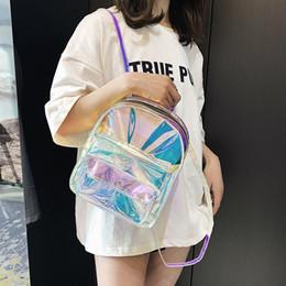 $enCountryForm.capitalKeyWord Australia - Mini Travel Bags Silver Laser Backpack Women Girls Shoulder Bag Pu Leather Holographic Backpack School Bags For Teenage Girls Y19061204