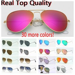 e6689d5f7484 sunglasses pilot real quality ray model 3025 3026 real UV400 glass made  lenses sun glasses   original leather cases