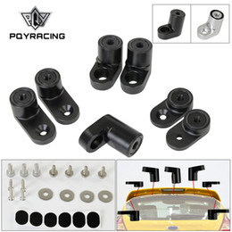 aluminum bolts Australia - PQY - For 13-on Ford Focus ST Billet T-6061 Anodized Aluminum Bolt-on Rear Wing Spoiler Hatch Riser Lift Extension PQY-WSR03
