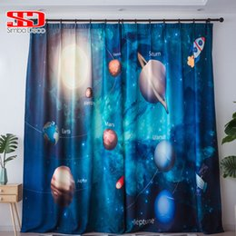 $enCountryForm.capitalKeyWord NZ - 3D Printed Planet Star Blackout Curtains for Living Room Cute Drapes for Boys Room Kid Window Treatment Panel Universe Science