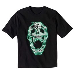 $enCountryForm.capitalKeyWord UK - NWT Halloween Boys' T-Shirt Electrified Skull Glow In The Dark 4 5 8 10 12 Tee Men Women Unisex Fashion tshirt