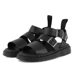 e8ccff7dc2b Jady Rose Punk Style Women Gladiator Sandals Black Flat Shoes Woman Casual  Thick Heel Beach Flats Sandalias Mujer 2019 Summer