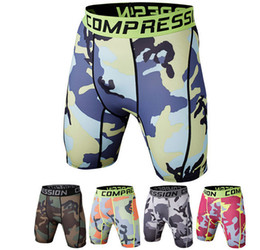 Purple Compression Shorts Australia - Compression Mens Camouflage 3D Pants Brand Clothing Printed Trousers Fitness Tights Short Crossfit