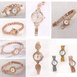 bronze decor Australia - Top Women Watches Luxury Crystal Decor Bracelet Clock Diamond Rhinestone Watch Rose Gold Elegant Girl Montre Femme gift birthday