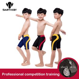 Swimming trunkS for boyS online shopping - HXBY Men s Swimming Trunks For Boy Swimwear Competition Training Children s Swimsuit Boys Professional Baby Swimming Shorts XL