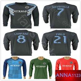 ee4a9ec07 2018 2019 New York City Long Sleeve Soccer Jersey DAVID VILLA LAMPARD  MORALEZ MATARRITA PIRLO Custom Home Dark Blue Football Shirts Uniforms
