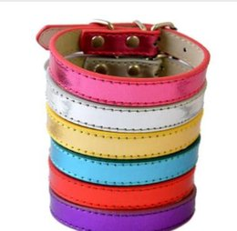 Chinese  Big Sale Pu Leather Dog Collars For Small Dogs Adjustable Buckle Pet Puppy Dog Cat Collar Size XS S M manufacturers