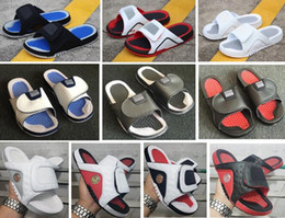 China Sandals Hydro 4 Bred 5s 13s 12s Slippers Men With Box Wholesale Free shipping Red Black White supplier low room suppliers