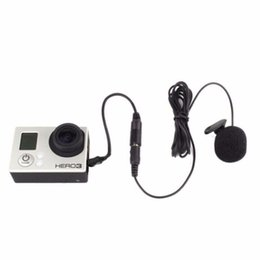 China 3.5mm Active Clip Microphone with Mini USB Audio Adapter Mic Cable For Gopro hero 3 3+ 4 Action Camera iPhone 5s Accessories kit suppliers