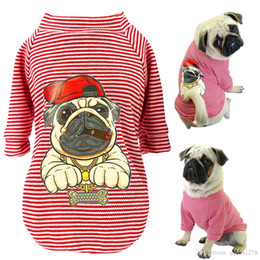 f0e5e7a9f35f Cute Dog Clothes For Small Dogs Cats Pug French Bulldog Chihuahua Cotton  Pet Clothes Puppy Shirt Summer Dog Vest T-shirts S-2XL