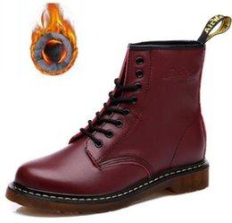 DR MARTENS unissex genuínas mulheres do desenhista do couro sapatos clássicos homens mulheres ankle boots homens mulheres Martin botas Doc Martens Ankle Boots Shoes venda por atacado