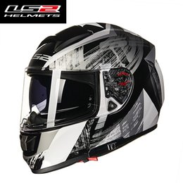 $enCountryForm.capitalKeyWord NZ - LS2 FF397 VECTOR fiberglass full face motorcycle helmet double visors built-in Bluetooth headset racing moto helmet ECE approval