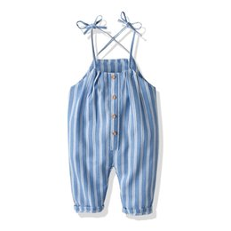 $enCountryForm.capitalKeyWord Australia - Summer children's wear pants New Korean version of the suspenders woven striped jumpsuit boys and girls strap trousers