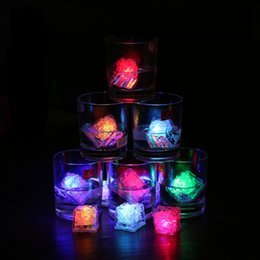 Glow Party Decorations Australia - Ice Cube LED Light Flashing Submersible Multi-Color Liquid Sensor Glow Lighting for Drinking Wine Wedding Party Bar Decoration