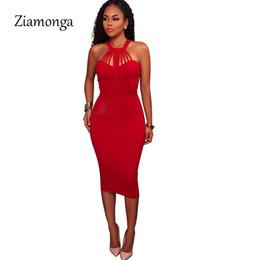 Ziamonga Sexy Women Wrap Chest Sleeveless Party Dresses Vestidos De Festa  Women Midi Dresses Elegant Tight Bandage Bodycon Dress D19011604 8c8725b9f421