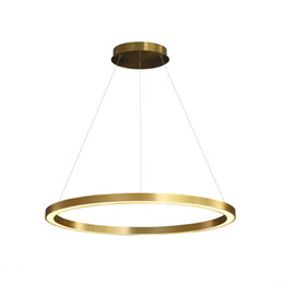 circle ring lights NZ - New Arrival Nordicr Ring Pendant Light Gold Simple Circle Dimmable Hanging Lamp for Living Room Home diningroom Art Decoration Luminaire