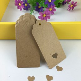 $enCountryForm.capitalKeyWord Australia - 2000pcs 9.5x4.5cm Hollow Heart Scalloped Kraft Paper Card   Blank Tag   Wedding Favour Gift Tag Price Label