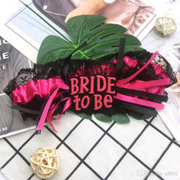 Wholesale bride costumes online – ideas Bride To Be Pink Lace Leg Circle Bachelorette Party Decoration Wedding Bridal Supplies Costume Props Classic Creativity lk A1