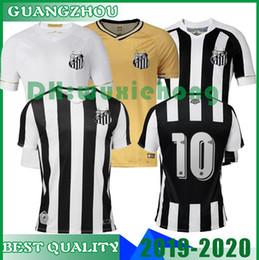 61b48c48c17 2018 19 20 SANTOS FC Soccer Jersey 9 RODRYGO GABRIEL B DODO RENATO SASHA  Customize Any Name Number White Black Gold Football Shirt Uniform