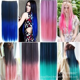 hair cards NZ - Factory direct fashion new gradient color 5 card one-piece hair piece color straight hair piece wig fast sale