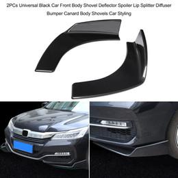 Carbon Fiber Bumper Lip Australia - 1 Pair Universal Car Front Deflector Spoiler Splitter Diffuser Bumper Canard Lip Body Shovels Carbon Fiber Bumper Splitters