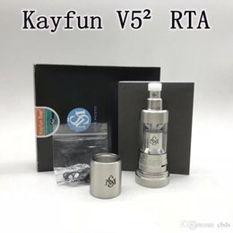 Discount v5 atomizer clone Kayfun V5² RTA Replaceable Tank Atomizers Single coil Easy to build Airflow control Top filling system PEEK insulators H