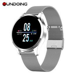 Q8 Smart Watch Australia - Rundoing Q8 Professional Smart Watch Waterproof Message call reminder Smartwatch men Heart Rate monitor Fashion Fitness Tracker