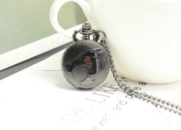 $enCountryForm.capitalKeyWord Australia - Small Size House Fire Mens Quartz Pocket Watch Pendant Necklace Kids Toys relogio de bolso watch Gift