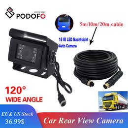 Truck cables online shopping - Podofo Car Rear View Camera Backup Camera for Bus RV Truck Trailer Heavy Duty M M M M Aviation Connector Plug Cable