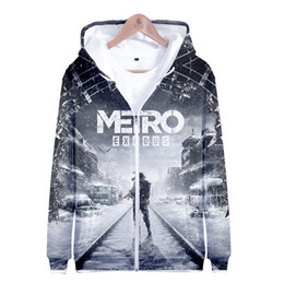 $enCountryForm.capitalKeyWord Australia - Metro Exodus 3D Printed Zipper Hoodies Women Men Fashion Long Sleeve Hooded Sweatshirts 2019 Hot Sale Streetwear Clothes