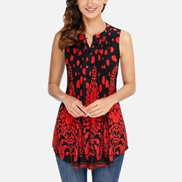Plus Size Floral Shirt NZ - Floral Tunic O-neck Women's Shirt Blouse Folds Button 3 4 Sleeves Womens Tops And Blouses 2019 Spring Summer Shirts Plus Size Y19050501