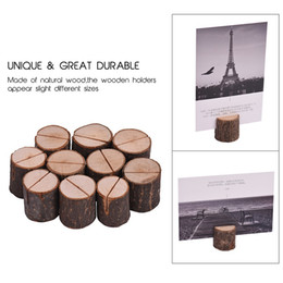 $enCountryForm.capitalKeyWord UK - Tree stump craft place card holder Rustic style photo clip Wedding natural wooden decorate Cylindrical and semicircle style ST378