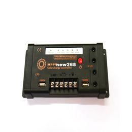 Battery Solar 12v Australia - Freeshipping MPPT 10A Solar Charge Controller Dual USB 5V with LED 12V 24V Solar Panel Battery Charge Controller On-Off Control Function