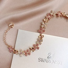 $enCountryForm.capitalKeyWord Australia - 2019 hot to recommend the new lady's favorite rose gold pink bracelet charm micro-mosaic technology
