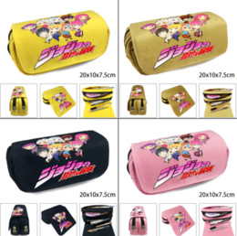 $enCountryForm.capitalKeyWord Australia - JoJo's Bizzare Adventure Canvas Student Pencil Case Zipper Pen Bag Cosplay Cosmetic Bag Stationery Box School Makeup Case