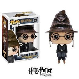 $enCountryForm.capitalKeyWord NZ - Nice gift Funko Pop Harry Potter with Sorting Hat Vinyl Action Figure With Box #21 Toy Good Qualitygift for kids