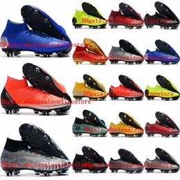 Venta al por mayor de Zapatillas de fútbol para hombre 2019 Mercurial VII Elite CR7 Ronaldo AG botines de fútbol Mercurial Superfly VI 360 botas de fútbol para exterior botas de futbol2019