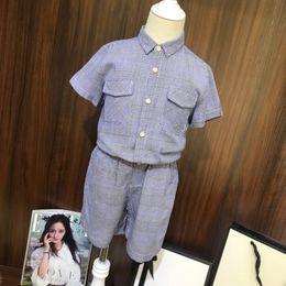 Double Shirt Designs Australia - Children's wear boy coat baby Short sleeve shirt child 2019 new products Wholesale prices Double pocket plaid casual design cute